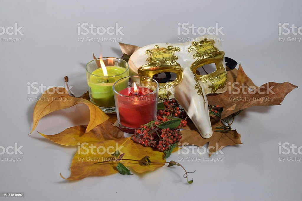 Still life of candles. stock photo