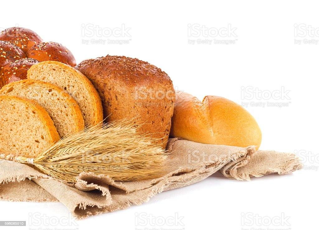 Still life of fresh baked goods and ear royalty-free stock photo