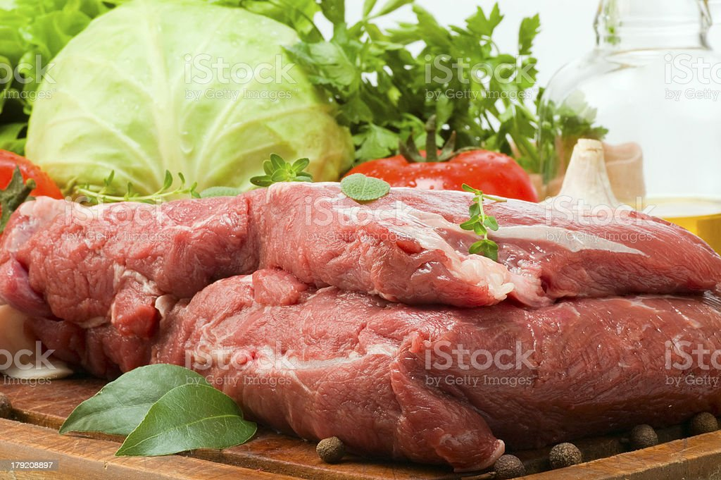 still life of meat royalty-free stock photo