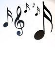 Still life of music notes