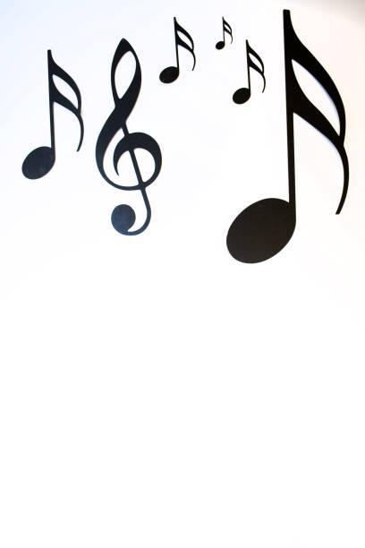 Stillleben der Musiknoten – Foto