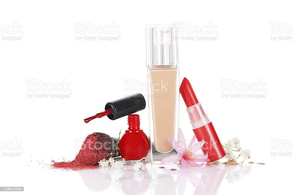 Still Life Of Various Cosmetics. royalty-free stock photo