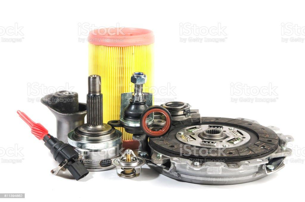 Still life of various parts stock photo
