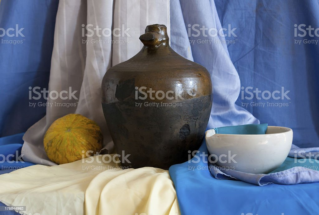 Still life of vintage household items royalty-free stock photo
