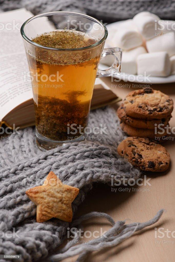 Still life of winter beverage stock photo