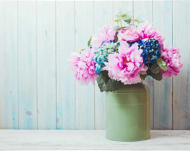 still life - flower bouquet blue and white bildbanksfoton och bilder
