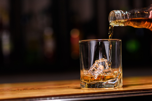 istock Still life. pour or whiskey in to glass 490361170
