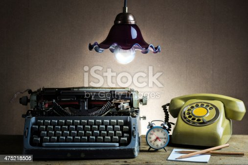 istock Still life  retro office 475218505