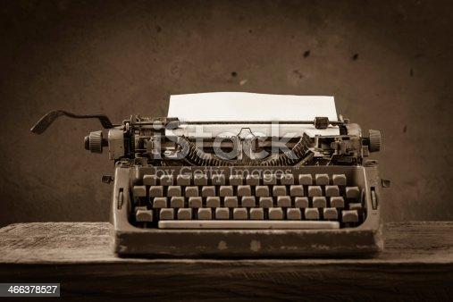 istock Still life type writer 466378527