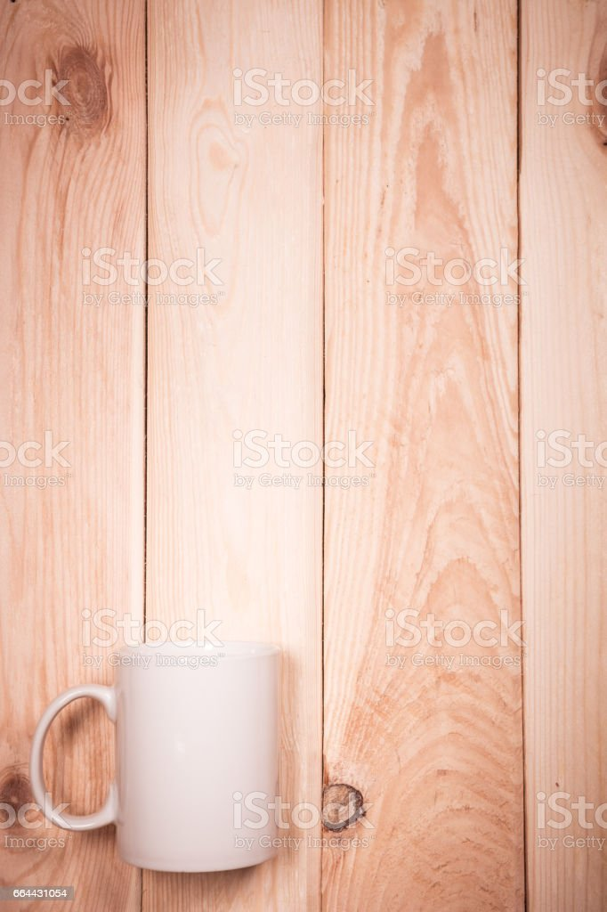still life, white Cup on wood stock photo