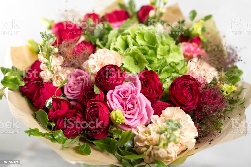 Still Life With A Bouquet Of Flowers The Florist Put