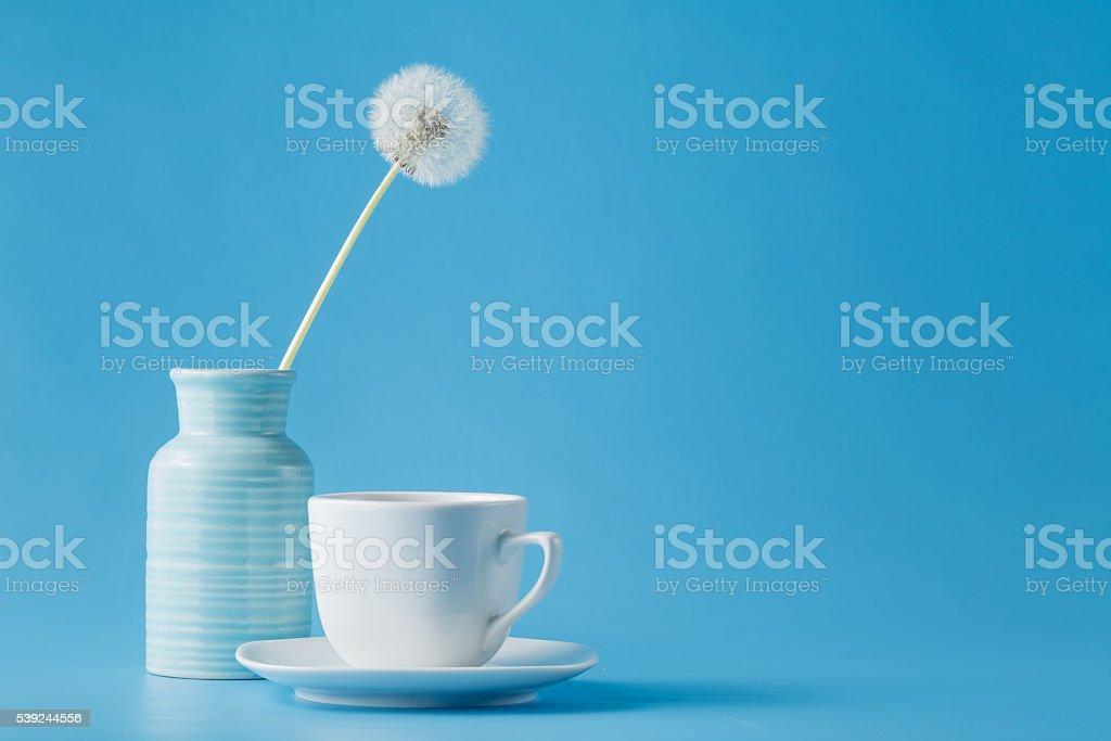 still life with a white tea cup foto de stock libre de derechos