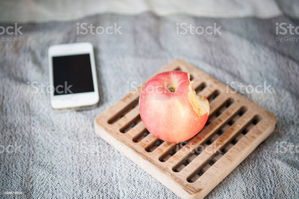 still life with Apple stock photo