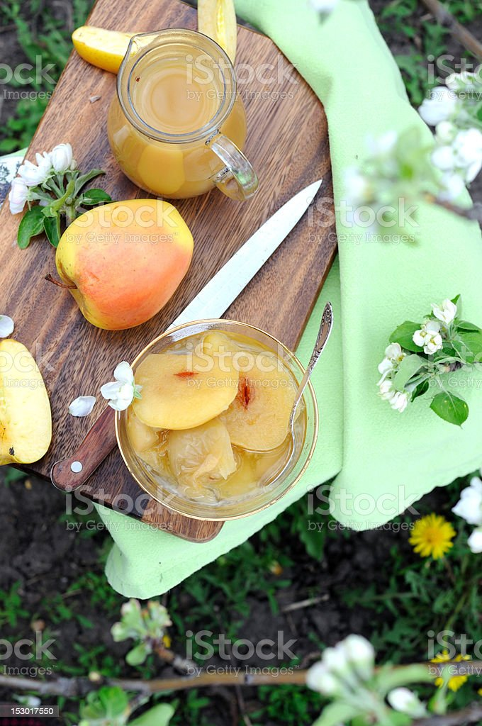 Still life with apples and juice royalty-free stock photo