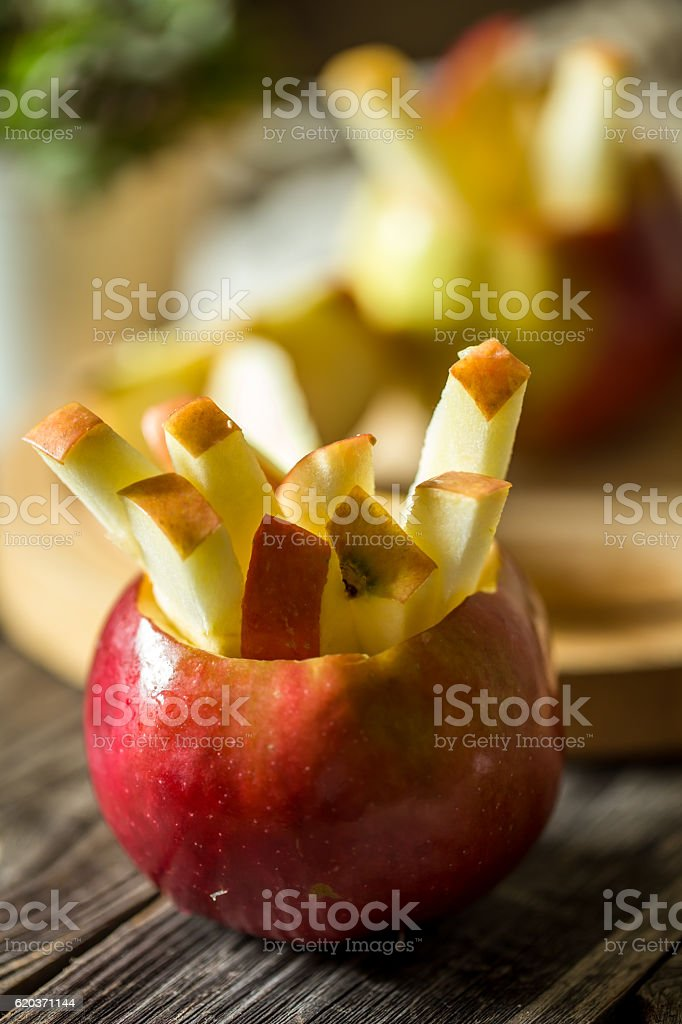 still life with apples on wooden background foto de stock royalty-free