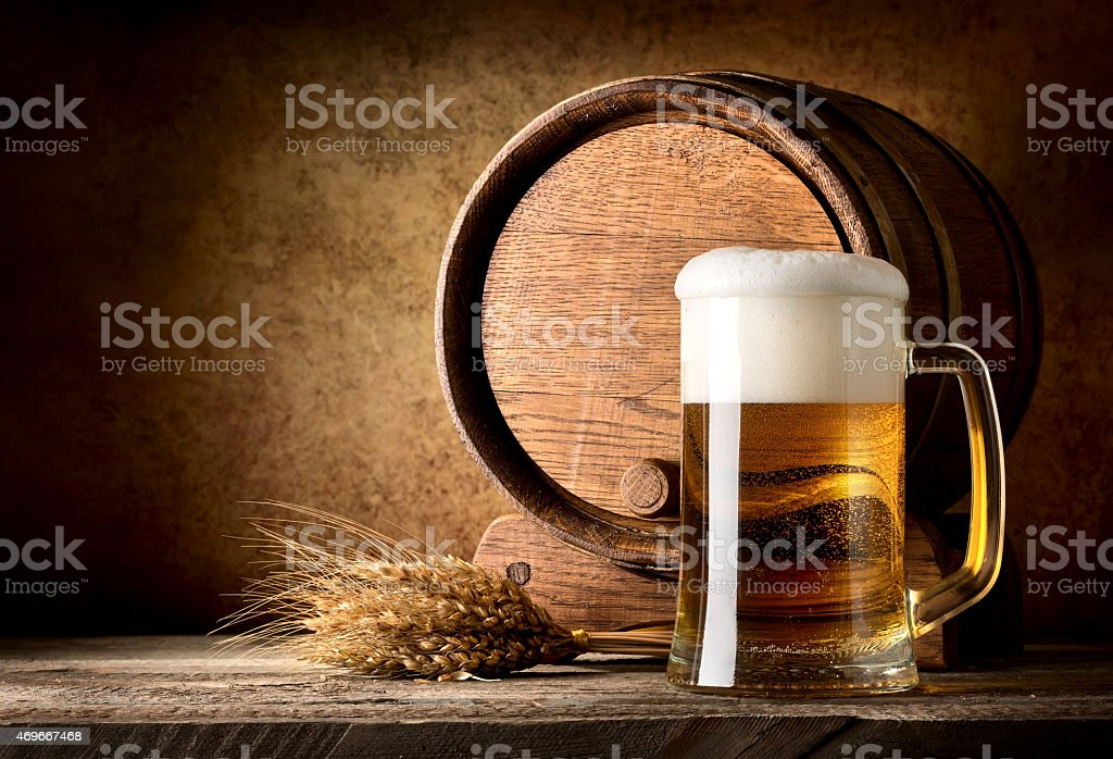 Still life with beer stock photo