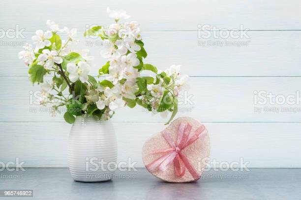 Still Life With Blossoming Apple Tree Branches Stock Photo - Download Image Now