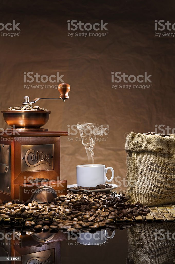 still life with coffee royalty-free stock photo