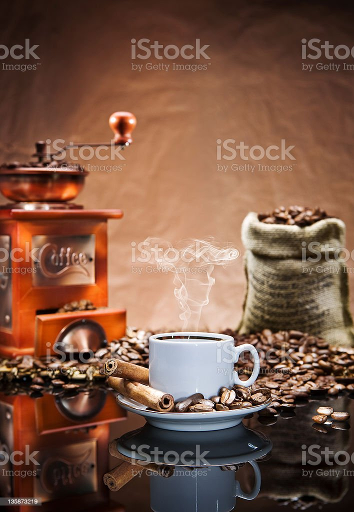 still life with coffee.tif royalty-free stock photo