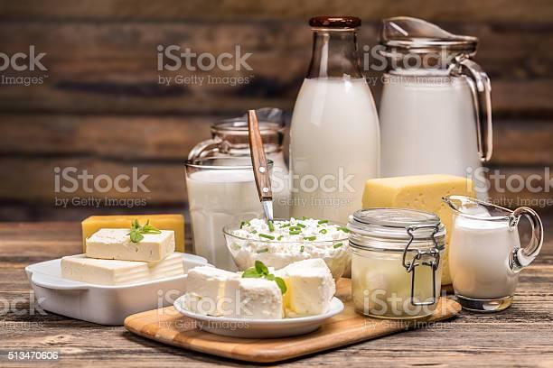 Stillleben Mit Milchprodukte Stockfoto und mehr Bilder von Milchprodukte
