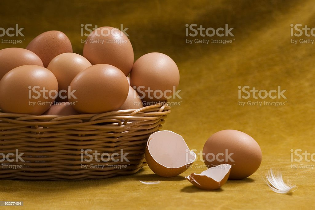 Still Life with Eggs royalty-free stock photo