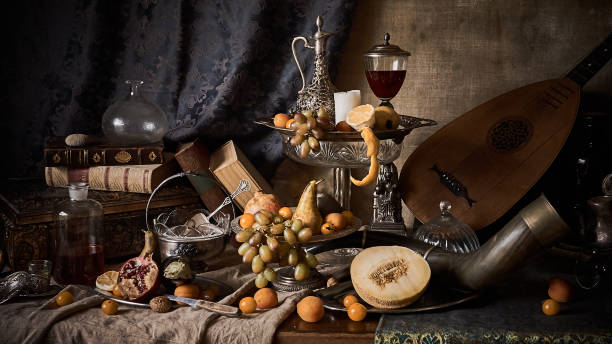 still life with fruits - renaissance stock pictures, royalty-free photos & images