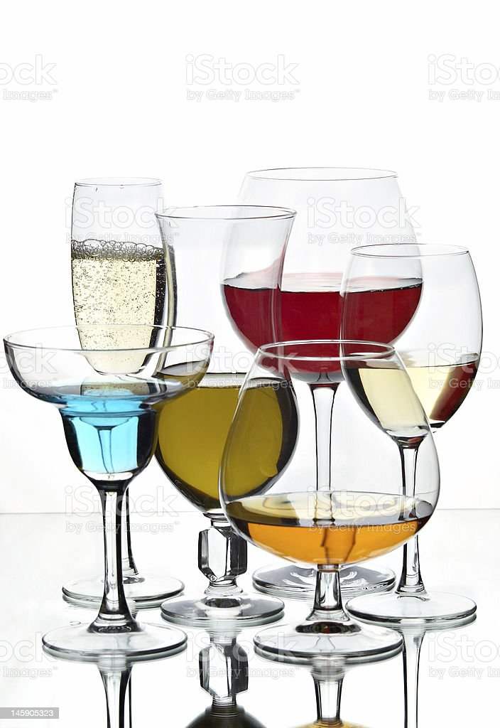 Still life with glasses royalty-free stock photo