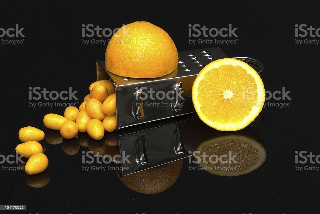 Still life with Kumquats stock photo