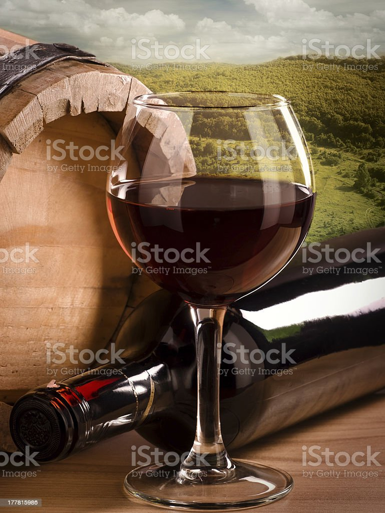 Still life with landscape. royalty-free stock photo