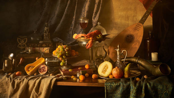 still life with lobster - renaissance stock pictures, royalty-free photos & images
