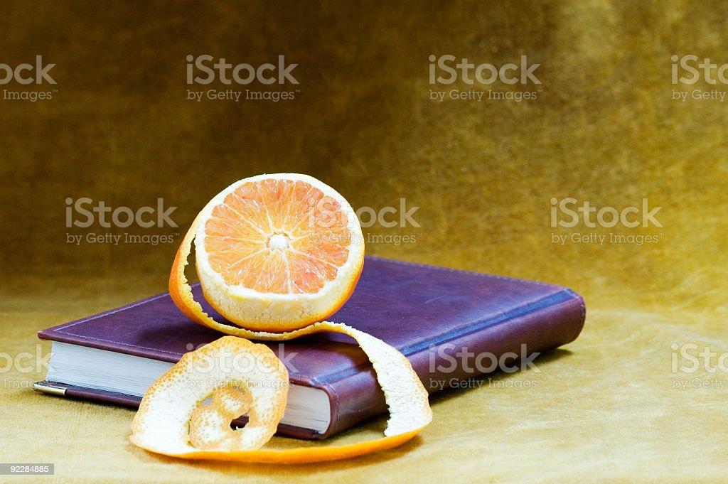 Still life with orange. stock photo