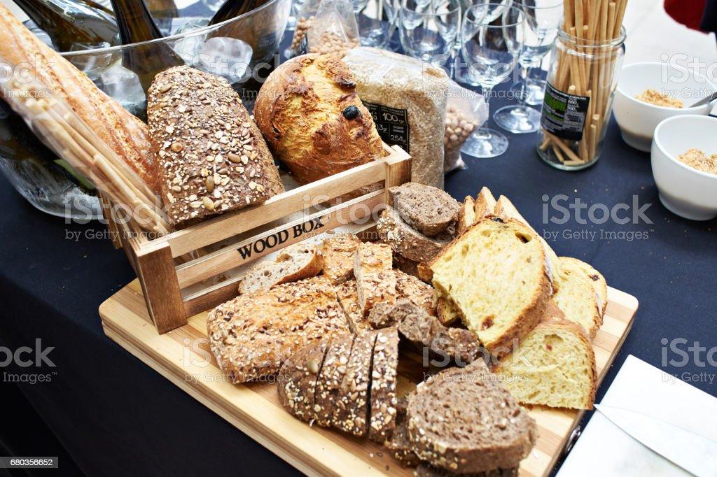Still life with sliced grain bread royalty-free stock photo