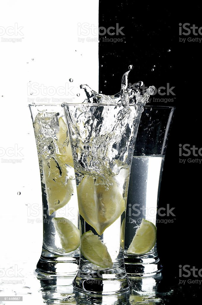 still life with water and lemon royalty-free stock photo