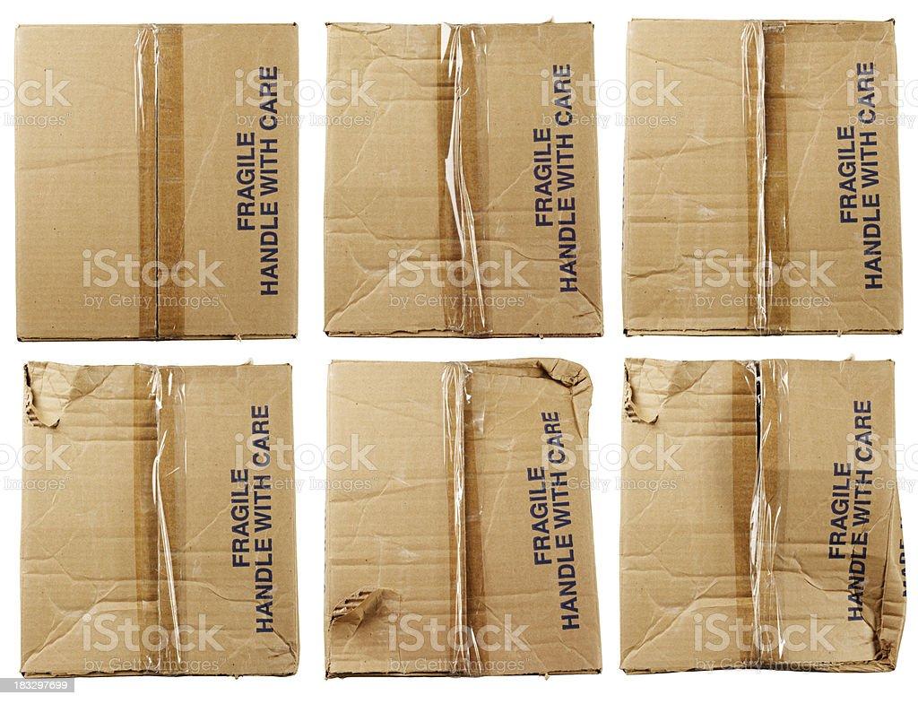 Still Life-Card Board Box Fragile stock photo