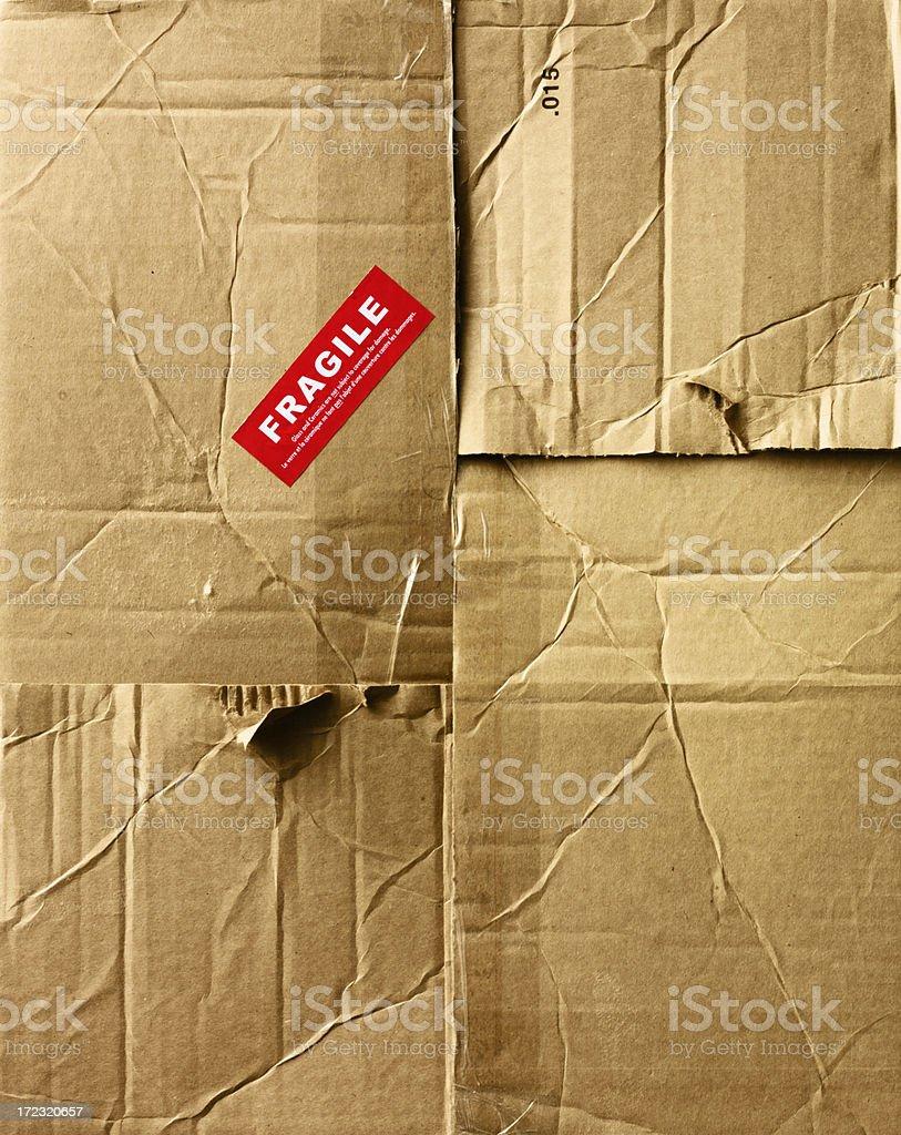 Still Life-Card Board Box Top Fragile Label royalty-free stock photo