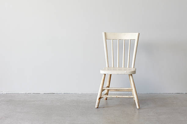 Still Life-Painted White Chair stock photo