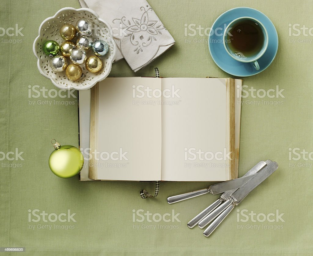 Still Life-Recipe Book royalty-free stock photo