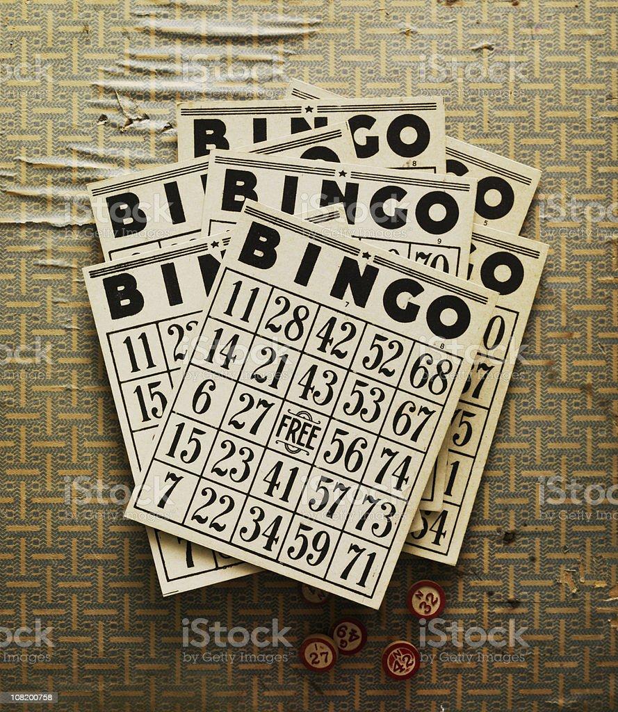 Still Life-Retro Bingo Cards stock photo