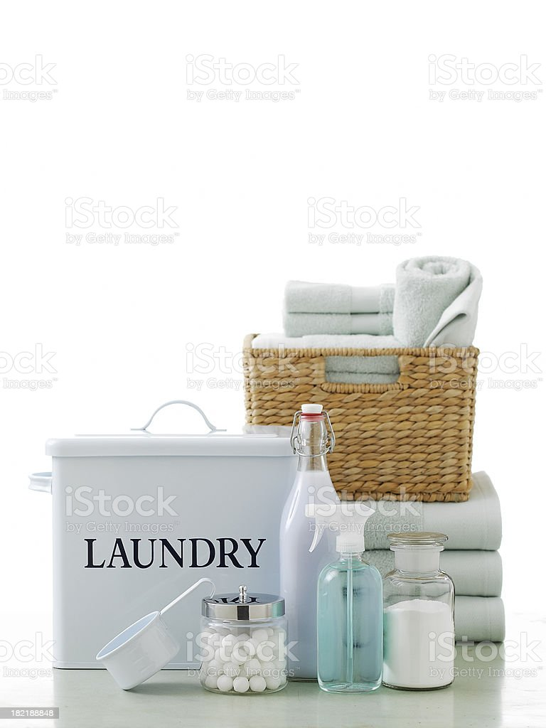 Still Life-Vintage Laundry Supplies royalty-free stock photo