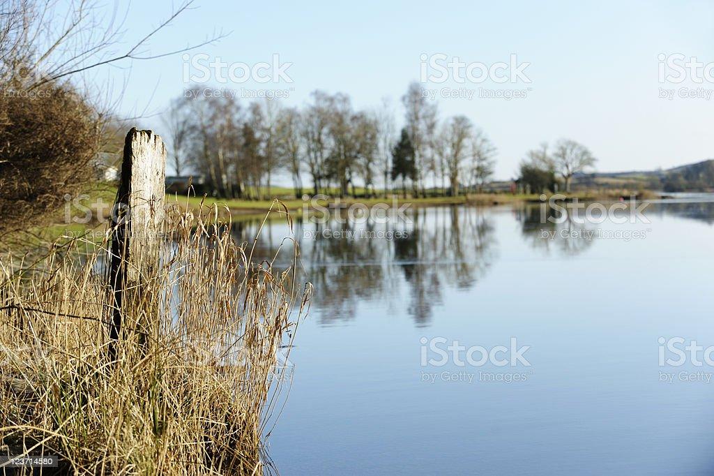 Still Loch royalty-free stock photo