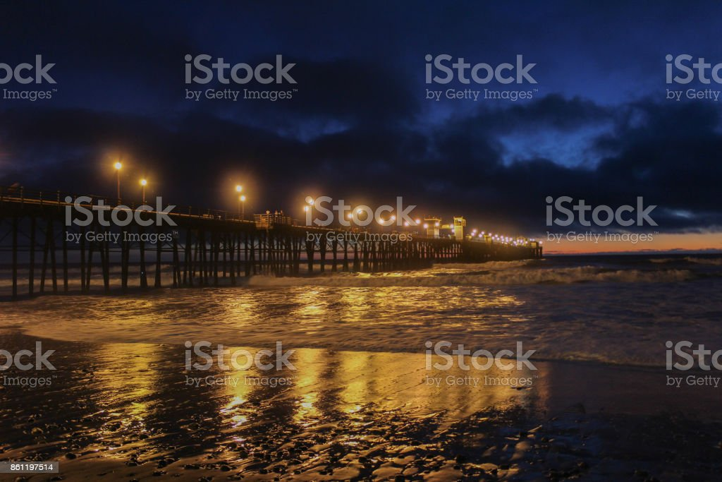 Still shot of Oceanside Pier with a Twist of Orange stock photo