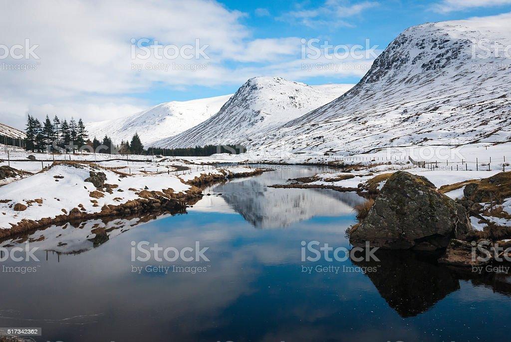 Still waters of Glen Lyon stock photo