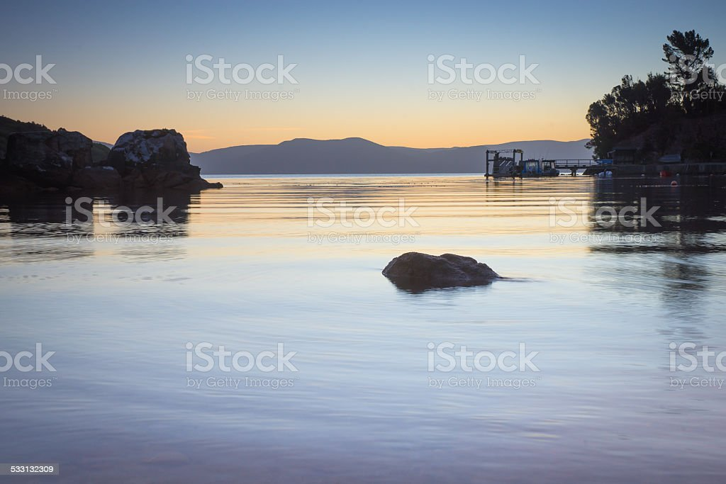 Still waters stock photo
