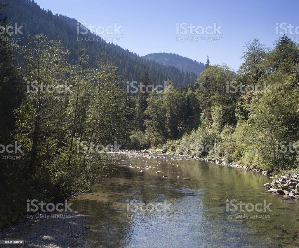 Stillaguamish River Summer royalty-free stock photo
