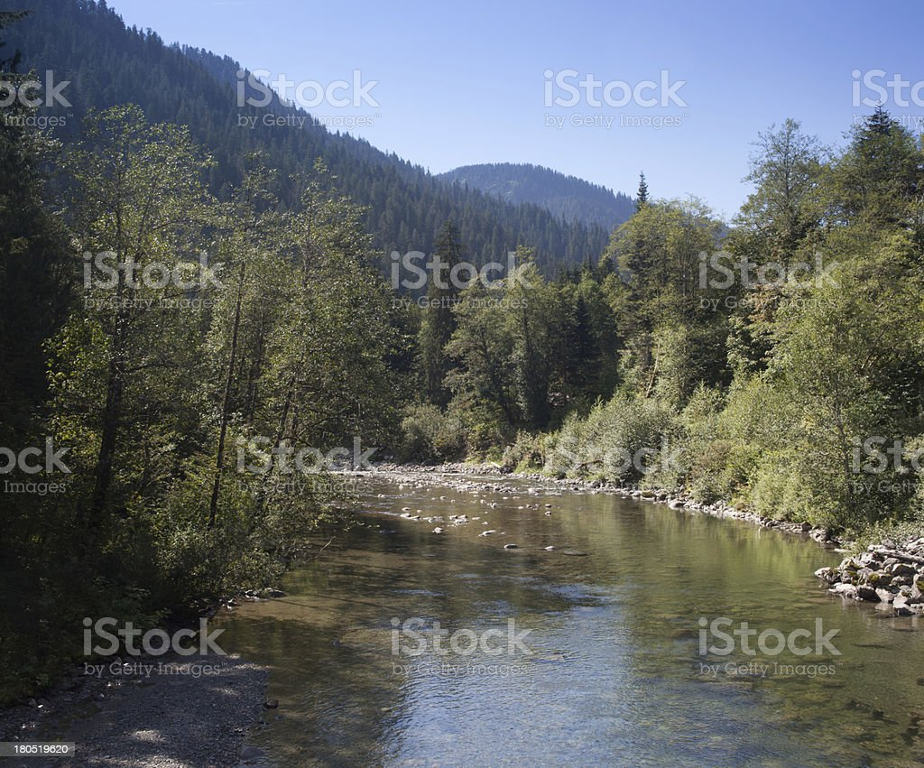 Stillaguamish River Summer stock photo