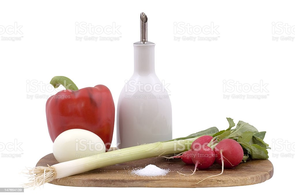 Still-life on a wooden hardboard royalty-free stock photo