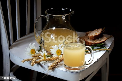 Stilllife With A Freshening Tasty Grain Drink Stock Photo & More Pictures of 2015