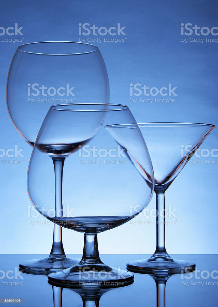 Still-life with empty glasses royalty-free stock photo