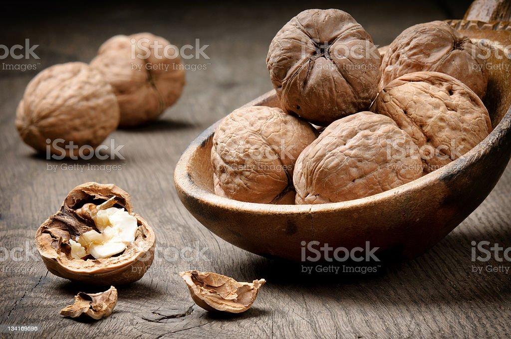 Still-life with walnuts royalty-free stock photo