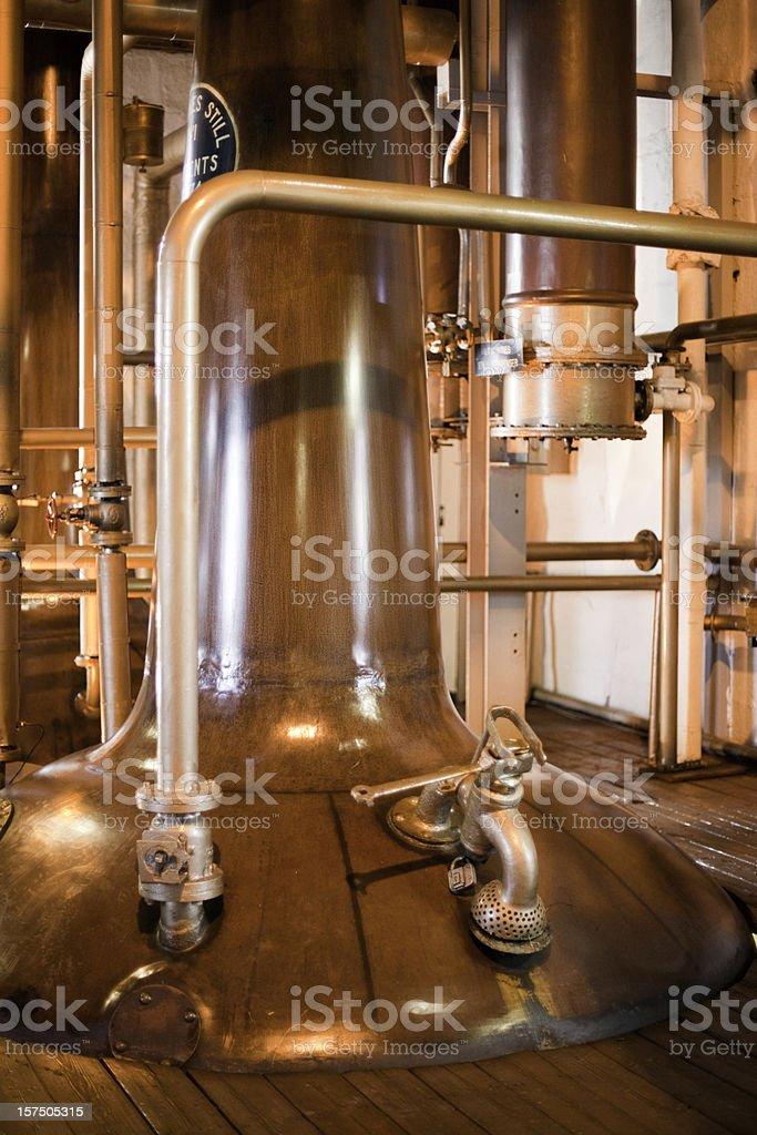 Imágenes de la destilería de whisky, Isla de Islay, Escocia. - foto de stock
